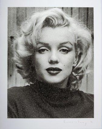 シルクスクリーン Young - Marilyn Hollywood (Black & White)