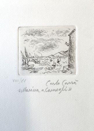 エッチング Carra - Marina a Camogli