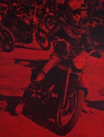 シルクスクリーン Young - Marlon Brando (Bike)
