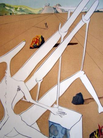 彫版 Dali - MARTIAN DALI EQUIPPED WITH A HOLOELECTRONIC DOUBLE MICROSCOPE