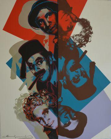 シルクスクリーン Warhol - Marx Brothers TP
