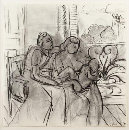 リトグラフ Matisse (After) - Maternidad