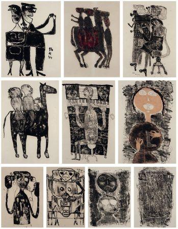 リトグラフ Dubuffet - MATIÈRE ET MÉMOIRE ou les lithographes à l'école.