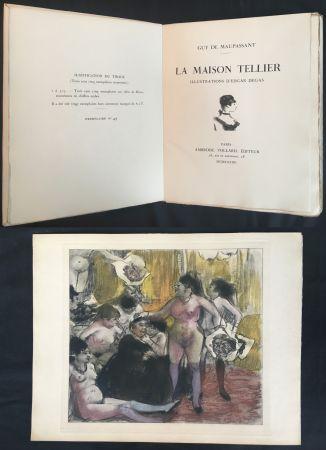 挿絵入り本 Degas - Maupassant: LA MAISON TELLIER. Illustrations d'Edgar Degas (1934).