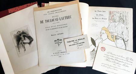 挿絵入り本 Toulouse-Lautrec - Maurice Joyant. HENRI DE TOULOUSE-LAUTREC, 1864-1901. [Vol. 1] Peintre - [Vol. 2] Dessins-Estampes-Affiches. (Exemplaire sur Japon avec suites et pièces ajoutées)