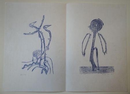 挿絵入り本 Ernst - Max Ernst - Jean Tardieu. 24 Frottagen