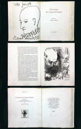 挿絵入り本 Picasso - Max Jacob : CHRONIQUE DES TEMPS HÉROÏQUES. Gravures et lithographies originales (1956).