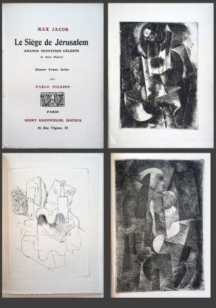 挿絵入り本 Picasso - Max Jacob. LE SIÈGE DE JÉRUSALEM. 3 eaux-fortes cubistes de Picasso (1914).