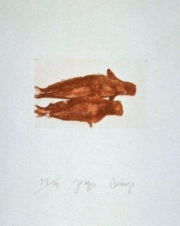 エッチングと アクチアント Beuys - Meerengel Zwei Robben