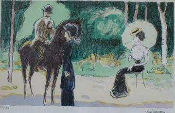 リトグラフ Van Dongen - Meeting in the woods