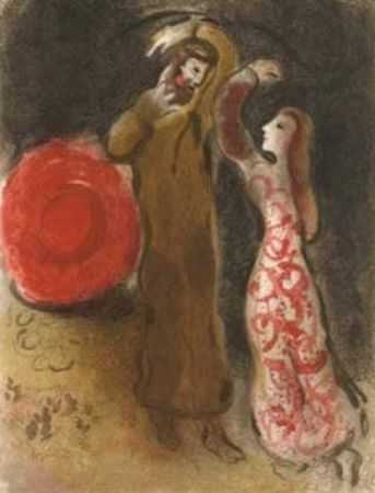 リトグラフ Chagall - Meeting of Ruth and Boaz M.247