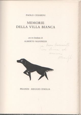 挿絵入り本 Manfredi - Memorie della villa bianca