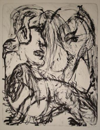 リトグラフ Disler - Mensch und Tier