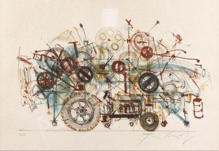 リトグラフ Tinguely - Meta-Machine