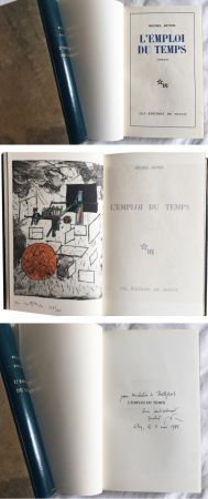挿絵入り本 Matta - Michel Butor. L'EMPLOI DU TEMPS (1 des 40 avec l'eau-forte rehaussée de Matta) 1956.