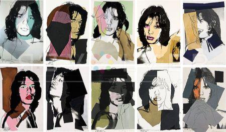 シルクスクリーン Warhol - Mick Jagger Complete Portfolio