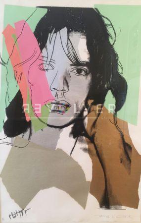 シルクスクリーン Warhol - Mick Jagger (Fs Ii.140)