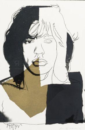 シルクスクリーン Warhol - Mick Jagger (FS II.146)