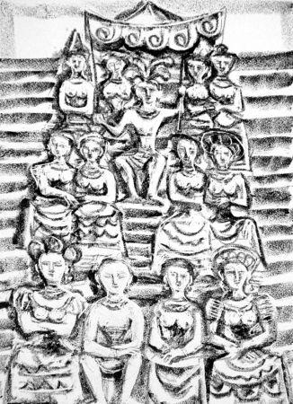 リトグラフ Campigli - Minosse