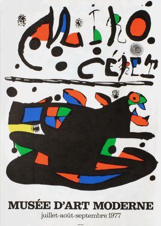 掲示 Miró - MIRO - CÉRET. Musée d'Art Moderne 1977. Affiche originale.