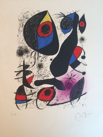 リトグラフ Miró - Miro a l'encre