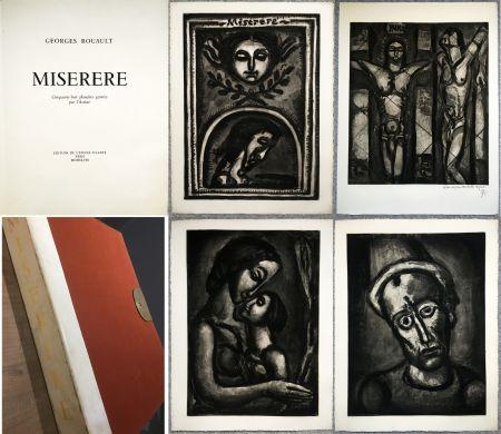 挿絵入り本 Rouault - MISERERE. 58 gravures. La suite complète des 58 gravures. Éditions de l'étoile filante, 1948