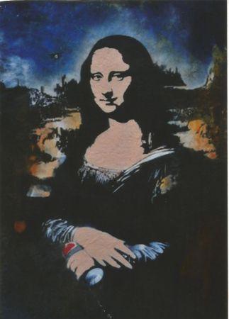シルクスクリーン Blek Le Rat - Mona Lisa