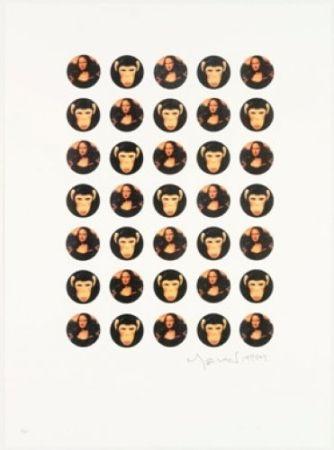 リトグラフ Leirner - Mona Mona