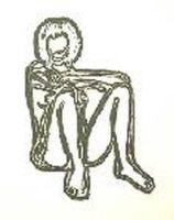 リトグラフ Wesselmann - Monica sitting with elbows on knees