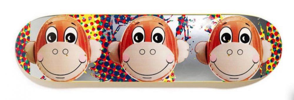 シルクスクリーン Koons - Monkey Train Skate Deck