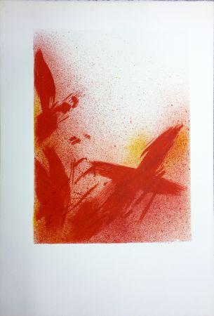 リトグラフ Bazaine - MONOGRAPHIE EN ROUGE (1975) sur vélin d'Arches.