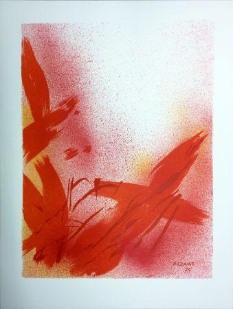 リトグラフ Bazaine - MONOGRAPHIE EN ROUGE (1975) sur vélin de Rives.