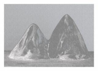 デジタル版画 Lamm - Montagnes
