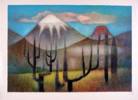 リトグラフ Toffoli - Montagnes mexicaines