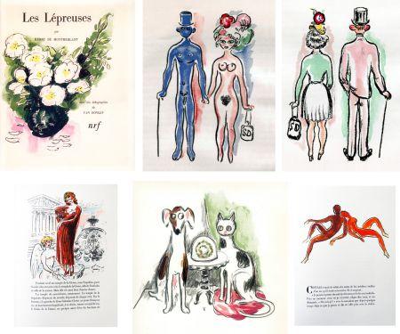 挿絵入り本 Van Dongen - Montherlant. LES LÉPREUSES. 25 lithographies originales en couleurs (1947)