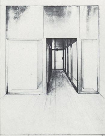 シルクスクリーン Christo - Monuments, Store Front Corridor