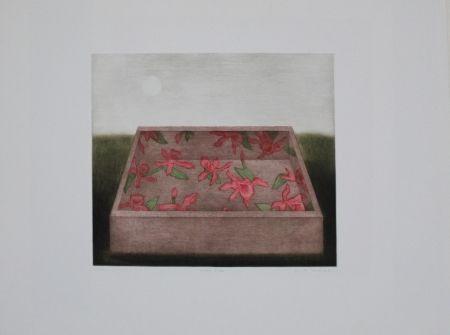 メゾチント彫法 Hwang - Moon & Box