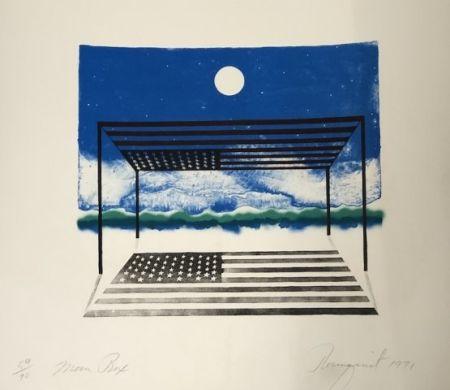リトグラフ Rosenquist - Moon box