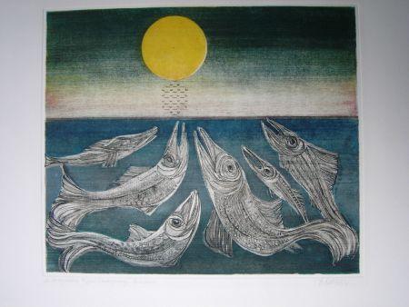 エッチングと アクチアント Finsterer - Morgenstern >Fisches Nachtgesang<
