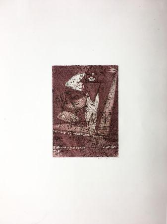 エッチングと アクチアント Ernst - MORT AUX VACHES ET AU CHAMP D'HONNEUR (1950).
