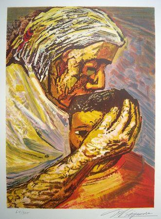 リトグラフ Siqueiros - Mother and Child