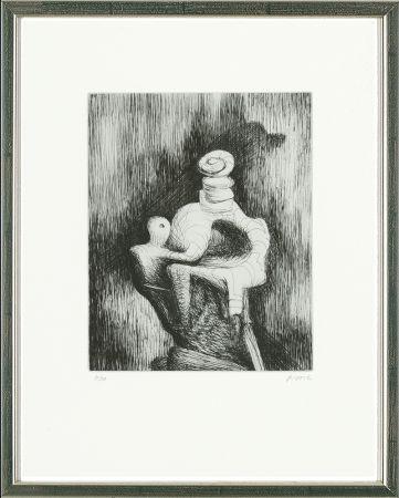 エッチング Moore - Mother and Child, 1979