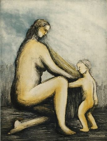 エッチングと アクチアント Moore - Mother & Child Xxviii