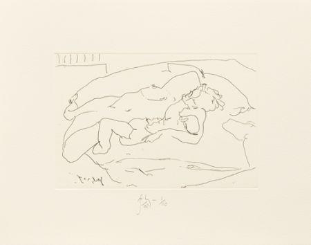 彫版 Flanagan -  Mother lying with child