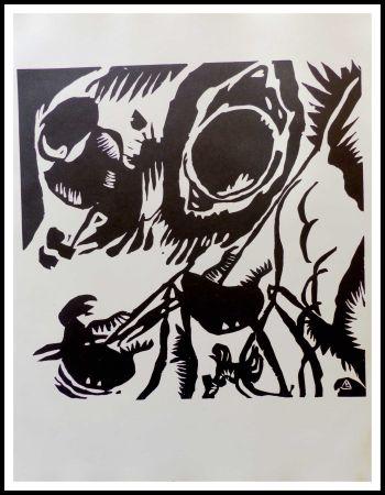 木版 Kandinsky - MOTIV AUS IMPROVISATION - Jardin de l'amour