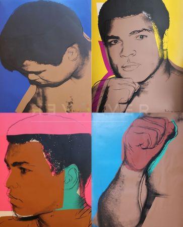 シルクスクリーン Warhol - Muhammad Ali Complete Portfolio (FS II.179-182)