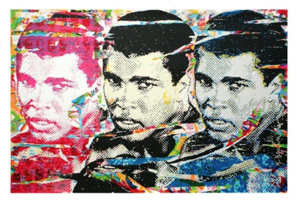 シルクスクリーン Mr. Brainwash - Muhammad Ali – The Champ