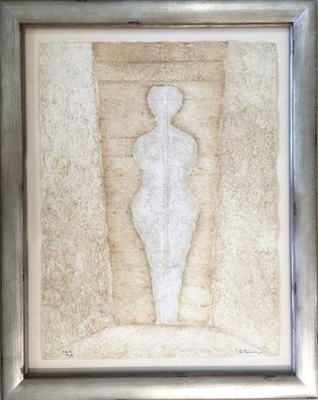 彫版 Tamayo - Mujer en Blanco - Woman in White (Pereda 174)