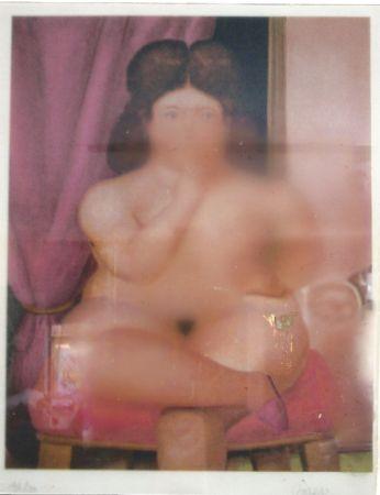 リトグラフ Botero - Mujer fumando