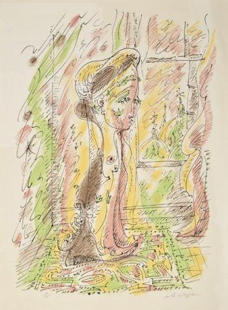 リトグラフ Masson - Mujer junto a la ventana